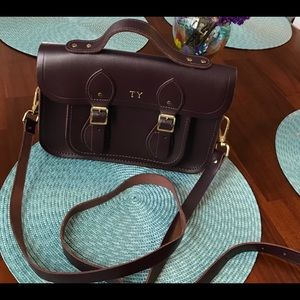 Cambridge Magnetic Satchel in Port Color Leather